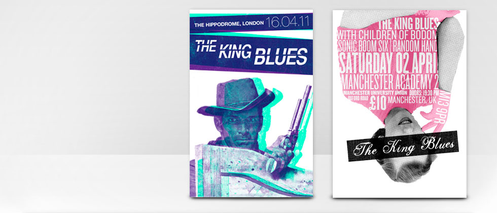 The King Blues Gig Poster Design